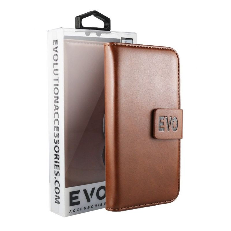 EVOLUTION Brown Book Case For iPhone  7 Plus