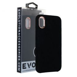 Evolution Black Plush Case For iPhone 7
