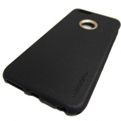 Motomo TPU Case For iPhone 6 Plus or 6S Plus Black Side View
