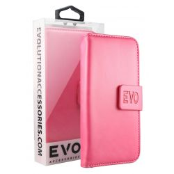 EVOLUTION Pink Book Case For iPhone 7